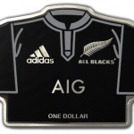 New Zealand Silver Coin Produced in the Shape of All Blacks Team Jersey