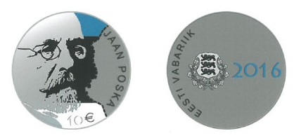 Estonia 2016 €10 Poska pair