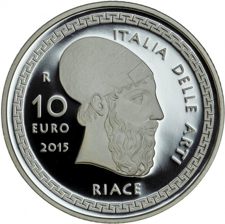 Italy 2015 €10 Bronze of RIACE b