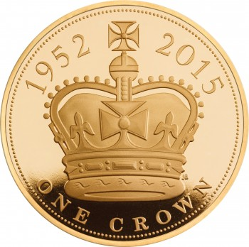 UK 2015 £5 gold longest reign b