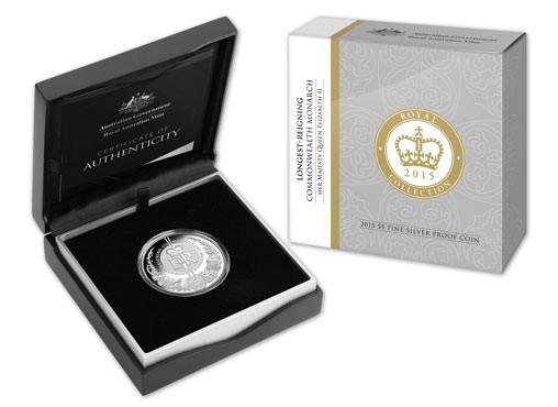 australia 2015 longest reign silver boxed