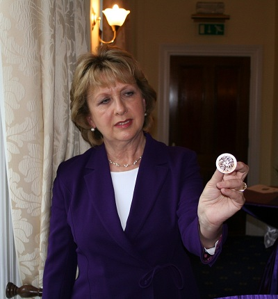 1 McAleese presents coinSmall