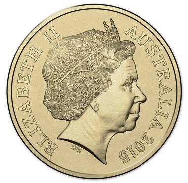 australia 2015 $2 remembrance colour a