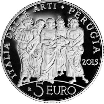 italy 2015 5 euro Perugia bsmall