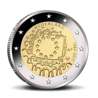 netherlands 2015 €2 eu flag asmall