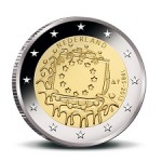 New Commemorative €2 Coin Celebrating EU Flag's Birthday Issued in Netherlands