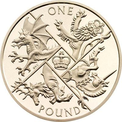 UK 2016 £1 round pound aSmall