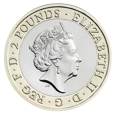 UK 2016 £2 Shakespeare aSmall