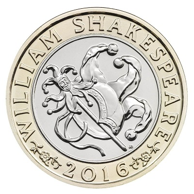 UK 2016 £2 Shakespeare b comedySmall