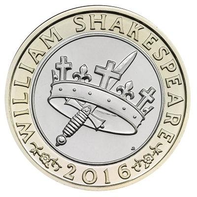 UK 2016 £2 Shakespeare b historySmall