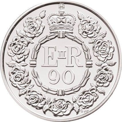 UK 2016 £5 90th birthday bReverseSmall