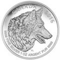 canada 2016 $5 wolf fract. bTINY