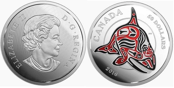canada 2016 $50 haida orca aBOTH