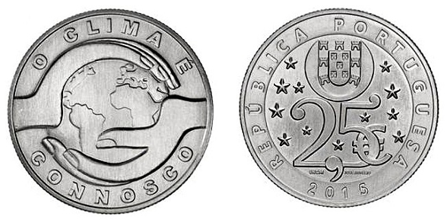 portugal 2015 climate coin unc pairSMALL