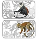 Perth Mint Releases 2016 Year of the Monkey Silver Rectangle Four-Coin Set