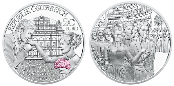 Austria 2016 20 euro Opera Ball pairBOTH