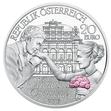 Austria 2016 20 euro Opera Ball pairOB