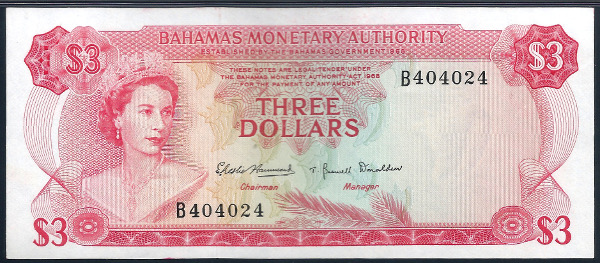 3 Note Of The First Design Type A Very Por And Relatively Affordable Introduction To Decimal Banknotes Bahamas
