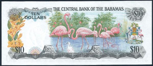 Bahamas 1974 $10 Back