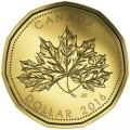 Canada 2016 $1 anniversary bTINY