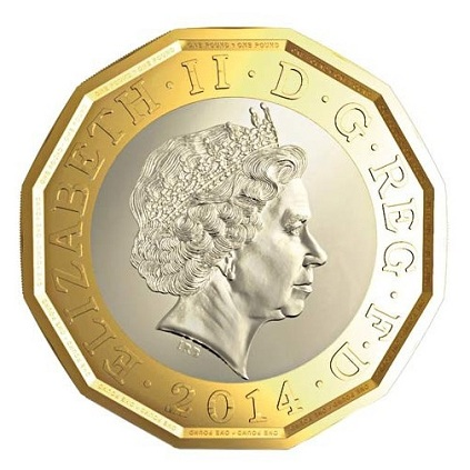 UK 2014 new 12 sided pound aSMALL