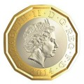 UK 2014 new 12 sided pound aTINY
