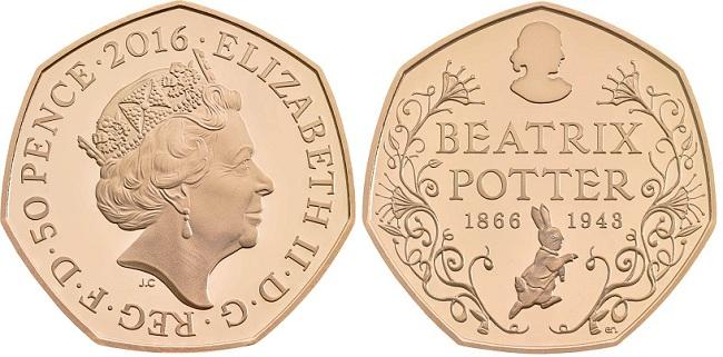 UK 2016 50 p Potter BOTH