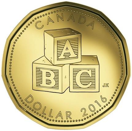 canada 2016 $1 baby bSMALL