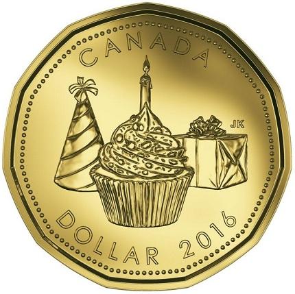 canada 2016 $1 birthday bSMAL