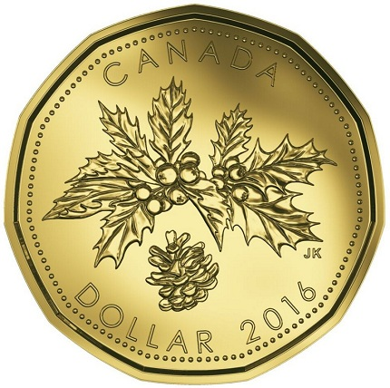 canada 2016 $1 christmas bSMALL