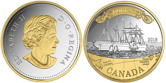 canada 2016 $1 silver & gold transatlanticBOTH