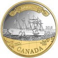 canada 2016 $1 silver & gold transatlanticTINY