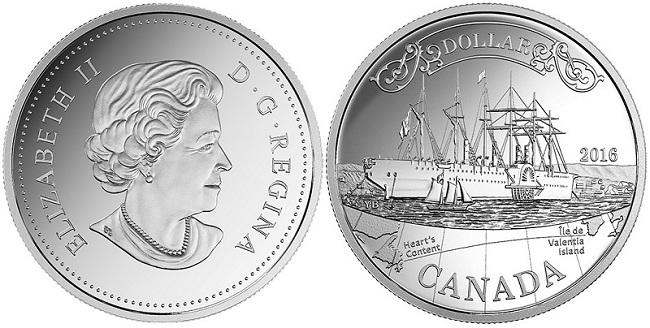 canada 2016 $1 silver transatlanticBOTH