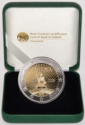 ireland 2016 €2 proclamation CASE SMALL