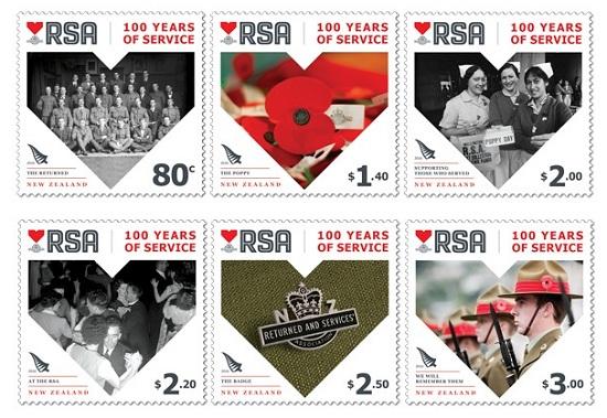 new zealand 2016 $1 RSA stampSMALL