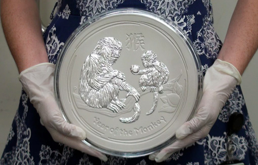 Perth Mint To Release 10 Kilo Year Of The Monkey Silver