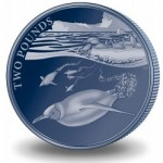 British Antarctic Territory Features Emperor Penguin on Titanium and Silver Crown Coins