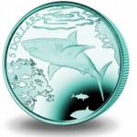 British Virgin Islands Issues New Color Titanium Coin with Great White Shark Design