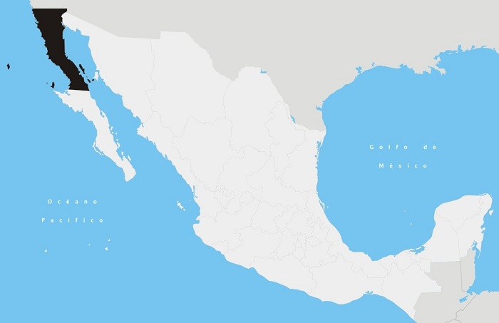 State of Baja California within Mexico PDSMALL