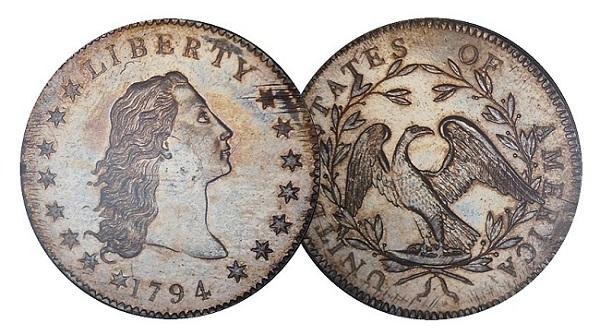 1794 $1 pairSMALLer