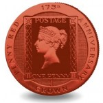 "Famed ""Penny Red"" Stamp Features on Ascension Island's Latest Colored Coin"