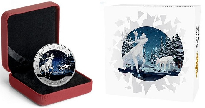 canada 2016 $20 digital caribou cBOTH