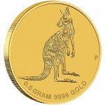 "Perth Mint Issues 2016 ""Mini Roo"" 1/2 Gram Gold Coin"