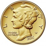 Now Available: The 2016 Mercury Dime Centennial Gold Coin