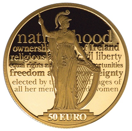 Ireland 2016 easter rising €50 gold aSMALL