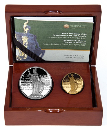 Ireland 2016 easter rising gold and silver setSMALL