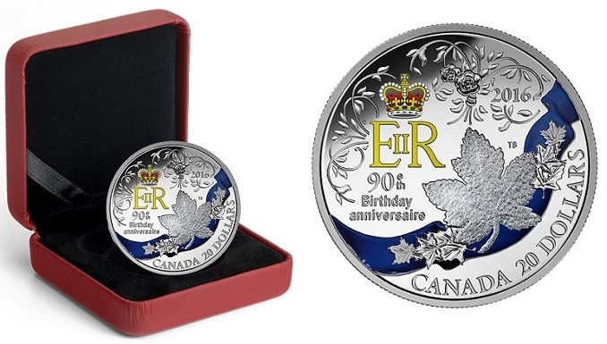 canada 2016 $1 birthday coin cBOTH
