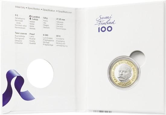 finland 2016 €5 stahlberg c