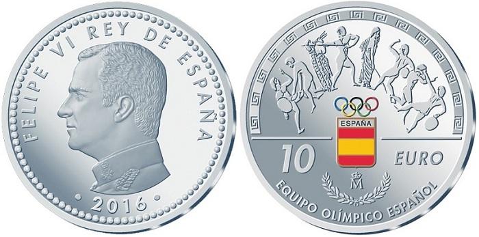 spain 2016 olympics €10 aBOTH