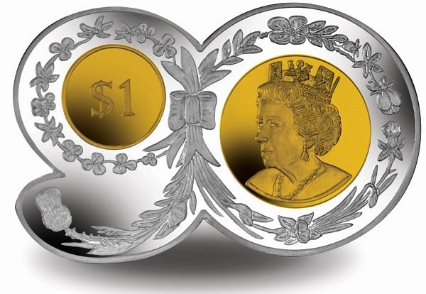 BVI 2016 $1 90 shape coin bSMALL